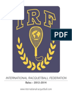 Racquetball - 2012-2014 - Rules Irf