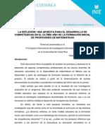 La Reflexion, Una Apuesta Para El Desarrollo de Competencias- Alejandra Avalos