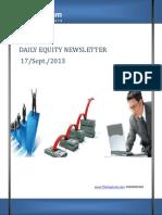 Equity News Letter 17-september