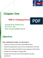 Chapter 01 - HRM in Changing Environment