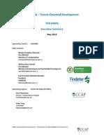 Colombia Transport Transit Oriented Development May 2013 NAMA Executive Summary