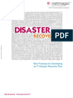 Successful IT Disaster Recovery Plan