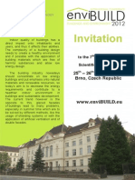 Invitatie Conf. IntInvitatie Conf. Internationala 2012 enviBUILDernationala 2012 EnviBUILD