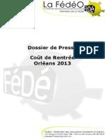 Coût de rentrée - Orléans 2013