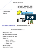 An introduction to Apache Accumulo