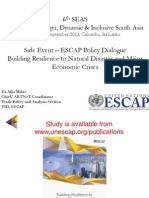 6th SAES - Presentation by Mia Mikic (UNESCAP, Bangkok) on Building Resilience to Natural Disaster and Major Economic Crises