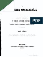 Réső Ensel Sándor - A helynevek magyarázója 1-2 kötet, 1861.