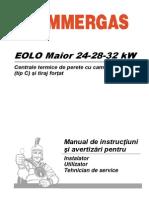 Manual de instructiuni si avertizari pentru instalatori - Immergas Eolo Maior kW