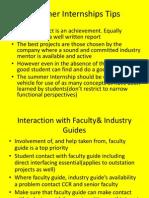 Summer Internship Tips