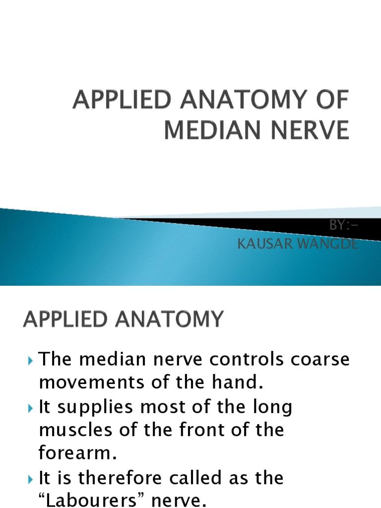 Applied Anatomy of Median Nerve