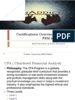 Certifications Overview – CFA, FRM and FLIP