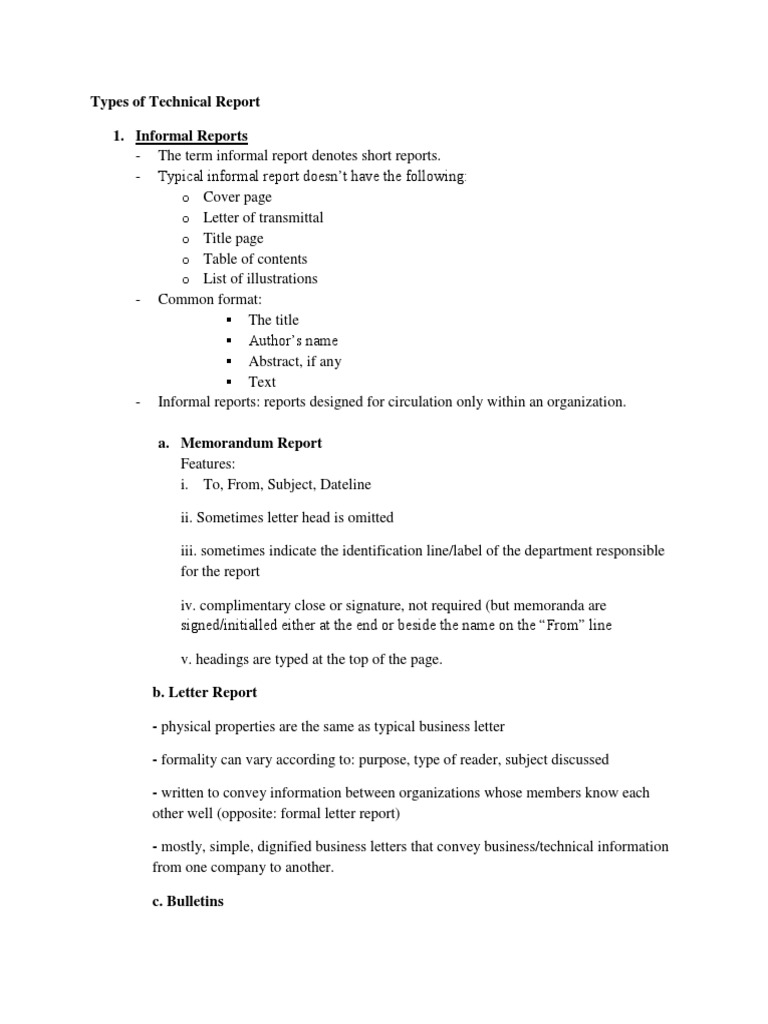 Types of technical report statistics feasibility study spiritdancerdesigns Choice Image