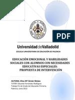 Educacion Emocional y Habilidades Sociales en NEE