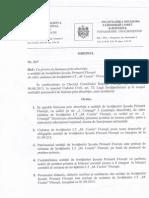 Decizia CR Floresti Inchiderea Scolii