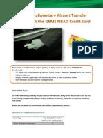 gems card - airport transfer service - 15 sept 2013