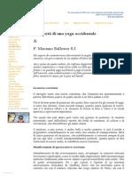 La necessità di uno yoga occidentale (Mariano Ballester S.J