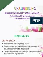 ETIKA KAUNSELING