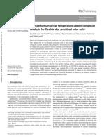 High performance low temperature carbon composite catalysts for flexible dye sensitized solar cells