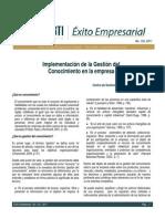 implementación de la Gestión del C en la empresa