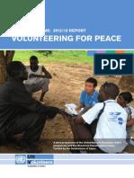HRD (Human Resource Development) Programme 2012/13 Report VOLUNTEERING FOR PEACE