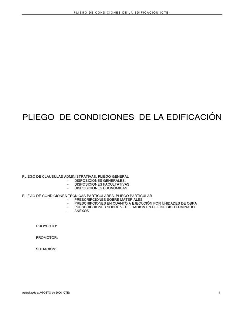 12-Pliego de Condiciones Adaptado CTE