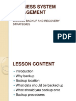 Backup and Recovery Strategies