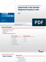 Opportunity in the Concrete Equipment Industry in India_Feedback OTS_2013