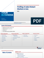 Profiling of Select Biotech Markets in Asia_Feedback OTS_2013