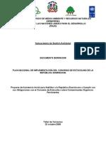 PLAN NACIONAL DE IMPLEMENTACIÓN DEL CONV DE ESTOC