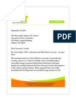 Open Letter to NY State Governor Andrew Cuomo about the GreenBank and Underwriting Standards