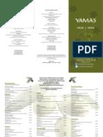 Yamas Meze and Tapas Christmas 2013 menu