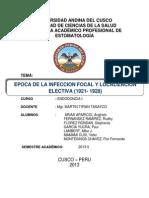 Epoca de La Infeccion Focal y Localizacion Electiva (1910- 1928)!!!