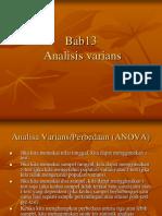 Bab 13, Analisis Varians