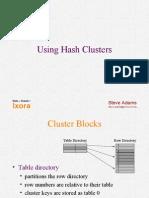 Adams - Hash Clusters Oracle