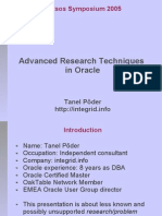 Advanced Research Techniques Oracle