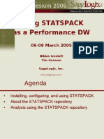 Gorman - Using Statspack as a Performance Data Warehouse