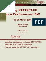 Gorman - Using Statspack as a Performance Data Warehouse