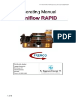 Cable Blowing Machine Miniflow RAPID Operating Manual