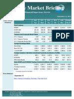 Weekly Market Briefing (September 16, 2013)