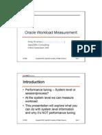 Rivenes - Oracle Workload Measurement (Slides)