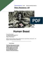 Military Resistance 11I8 Human Beast