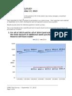 CNBC Fed Survey, September 17, 2013