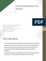 Traits Differentiating Mandibular First and Second Premolar