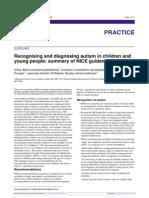 Guidelines - Recognizing & Diagnostic Autism in Children