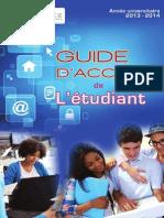Guide d'accueil de l'étudiant 2013-2014
