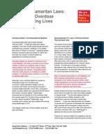 DPA Fact Sheet 911 Good Samaritan Laws 091713