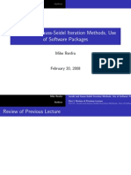 Jacobi and Gauss-Seidel Iteration Methods, Use of Software Packages