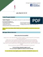 Job Alert - 9-13-2013