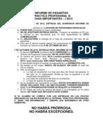 Práctica Profesional 2013-1. Fechas importantes.