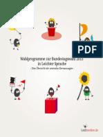 Wahlprogramme  zur Bundestagswahl 2013 in Leichter Sprache